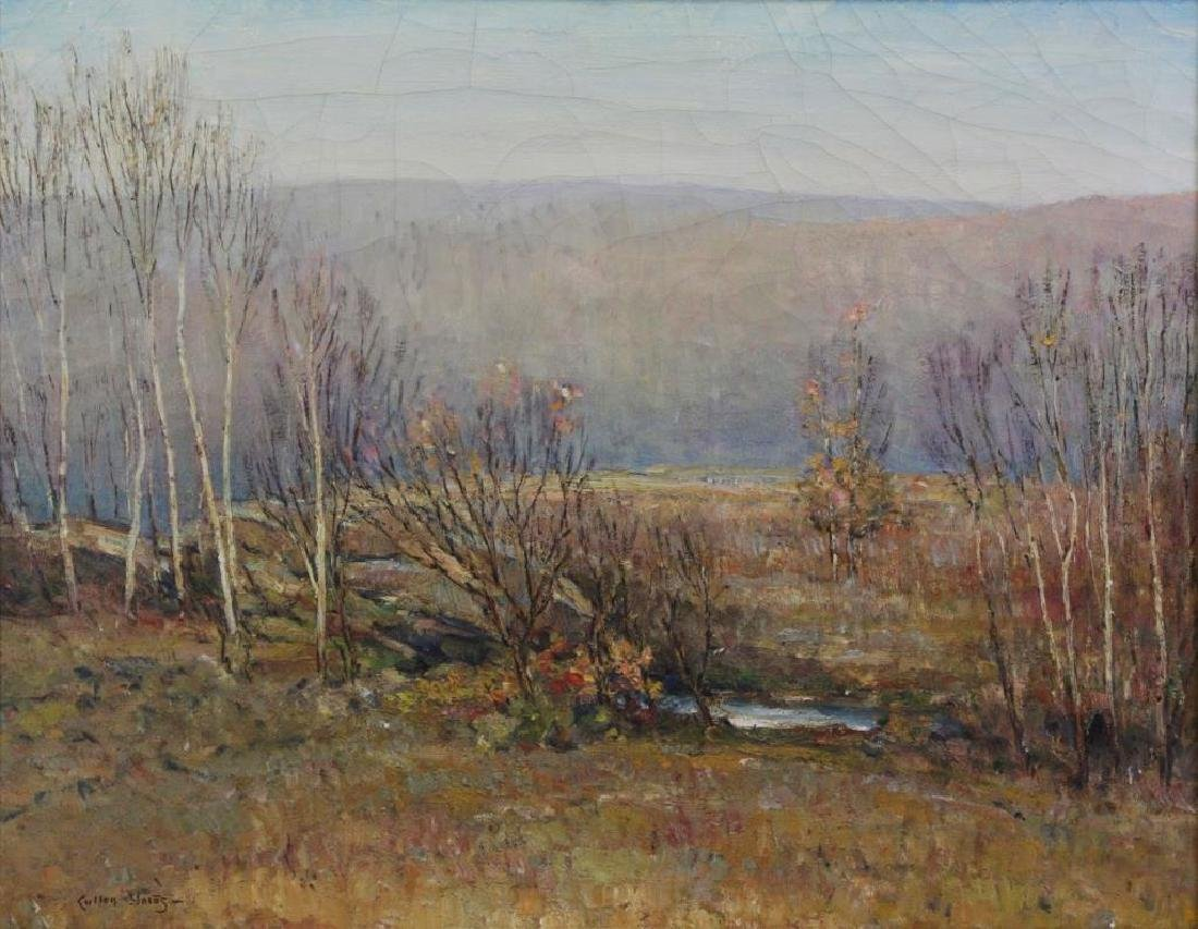 """YATES, Cullen. Oil on Canvas. """"Very Early Spring"""""""