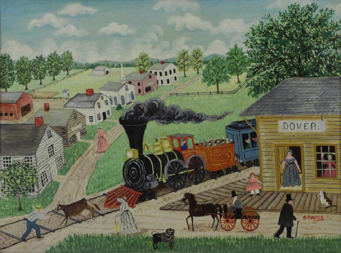 DAVIES, Albert. Oil on Board. Dover, New Hampshire