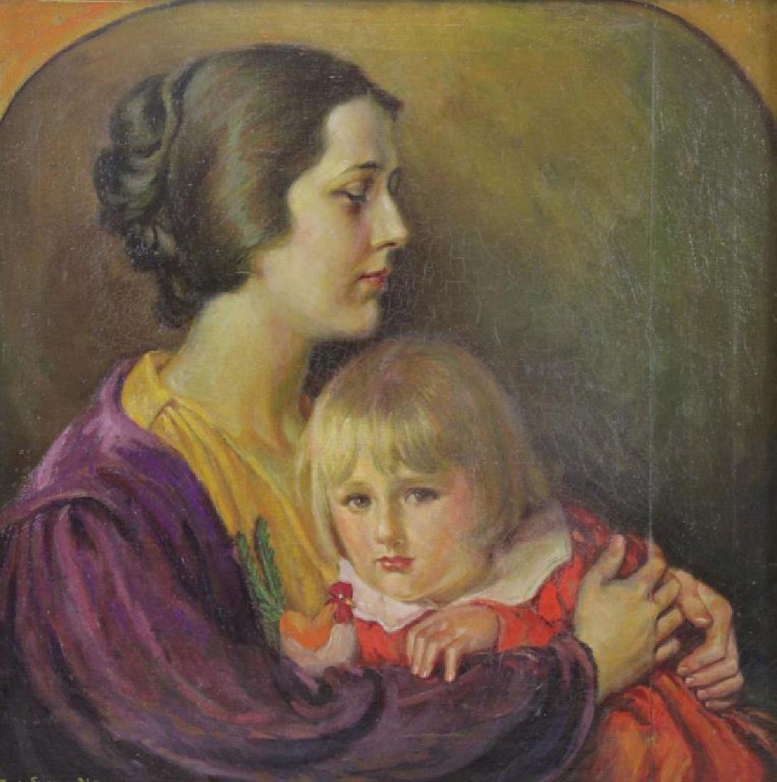 """SWAN, Paul. Oil on Canvas """"A Modern Madonna"""" 1931"""