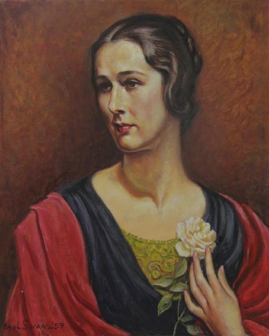 SWAN, Paul. Oil on Canvas. Portrait of a Woman