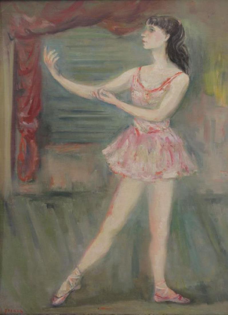 ZUCKER, Jacques. Oil on Canvas. Ballerina.