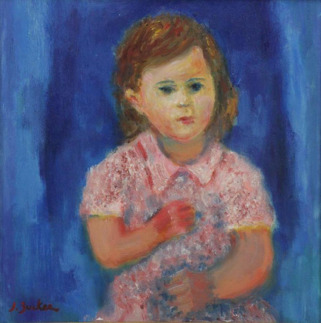 ZUCKER, Jacques. Oil on Canvas. Portrait of a Girl