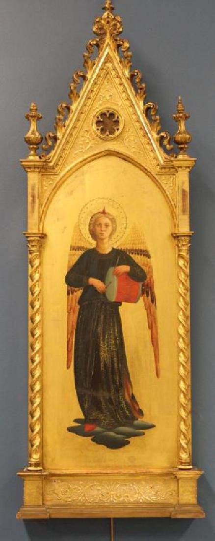 Italian Mid 19th C Gilded Angel after Fra Angelico