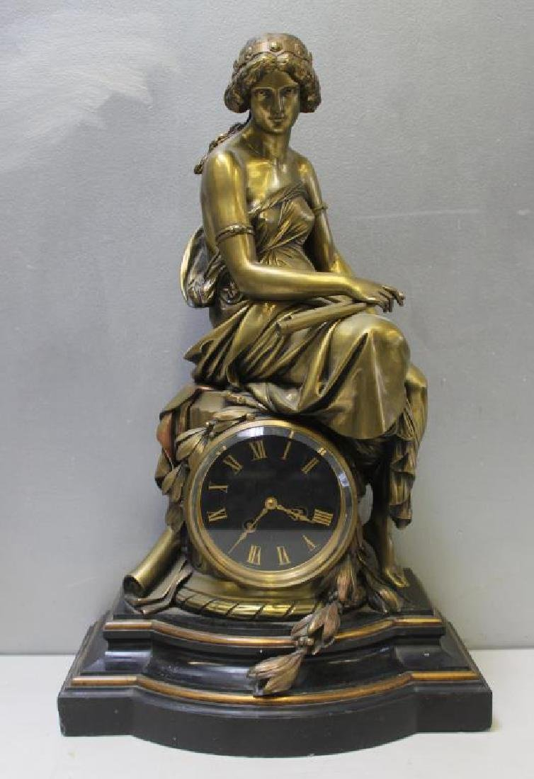 Lemerle-Charpentier Signed Gilt Bronze and Marble