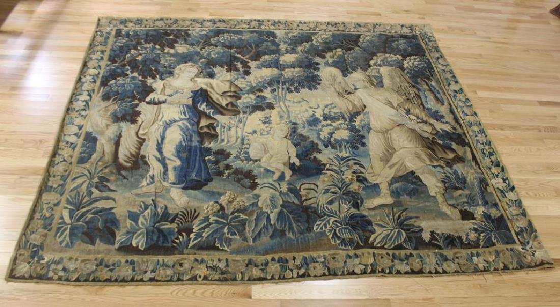 Antique Continental Figural, Scenery Tapestry.