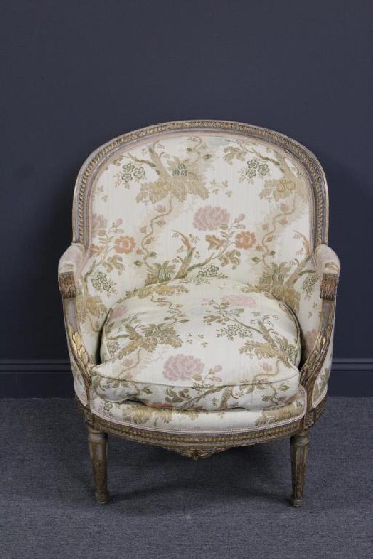 Louis XVI Upholstered Bergere.