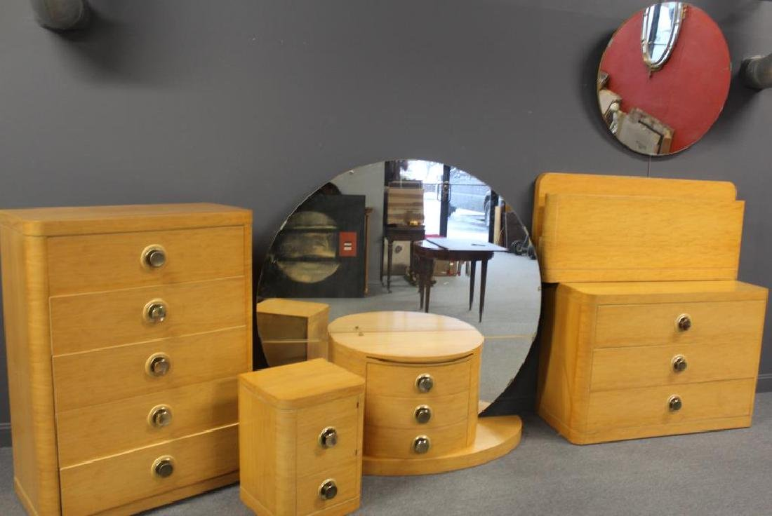 Impressive 6 Piece Art Deco Bedroom Set.
