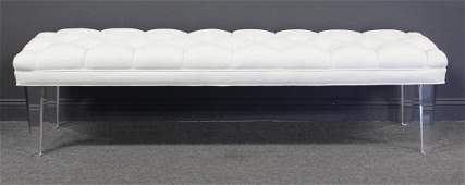 MIDCENTURY Style Tufted Upholstered Bench