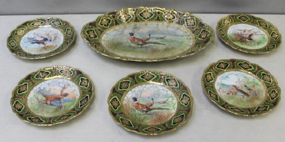 Nippon Porcelain Game Bird Serving Set