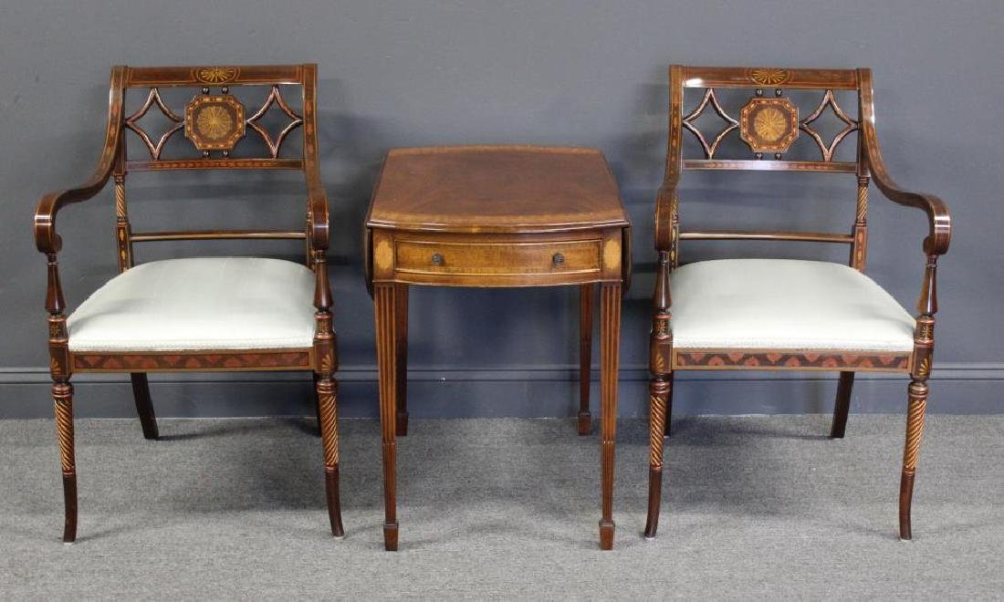 Furniture Grouping To Inc A Pair of Adams Style
