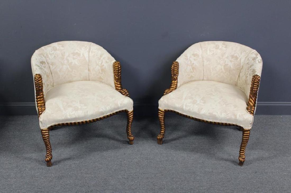 Pair Of Decorative Tassel Framed Giltwood