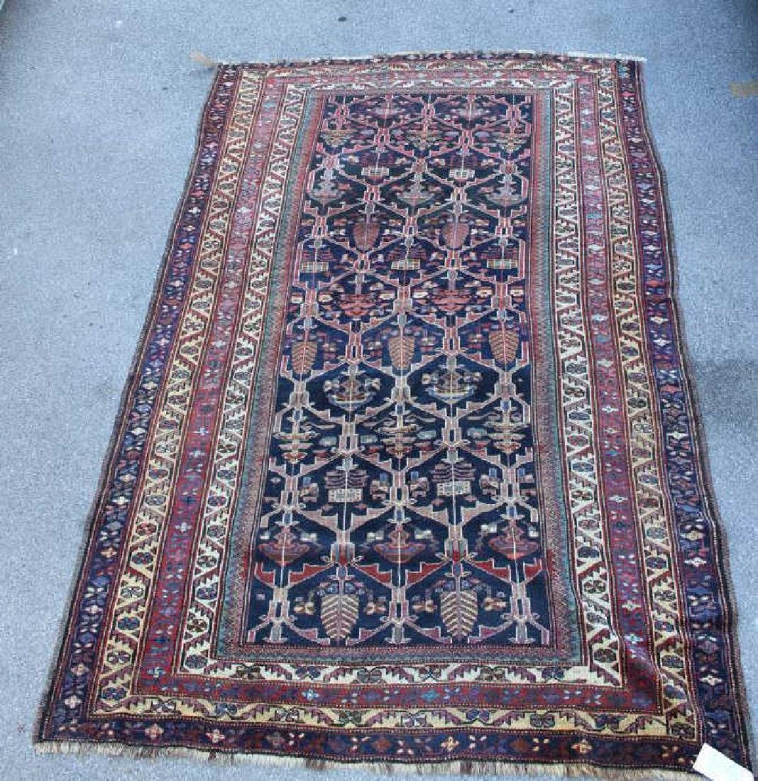 Antique and Finely Woven Antique Persian Carpet.