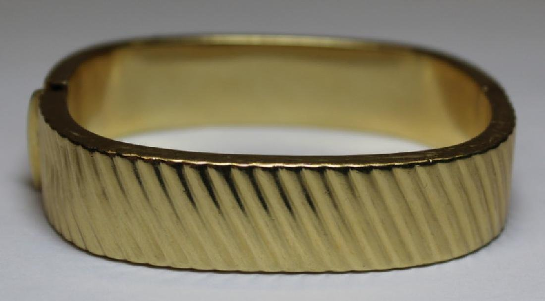 JEWELRY. Italian 14kt Gold Ribbed Bracelet.