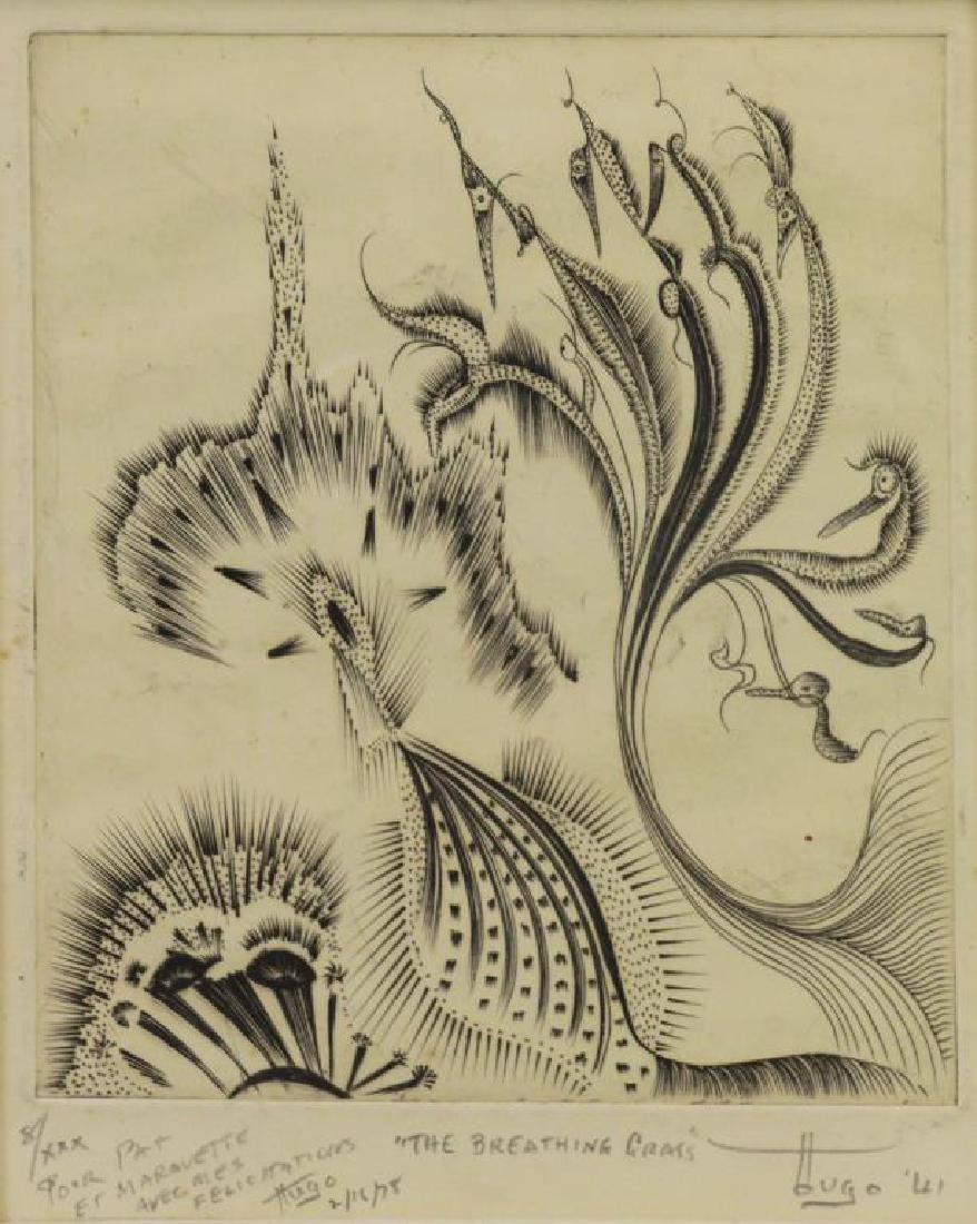 "GUILER, Hugh Parker. Engraving ""The Breathing"