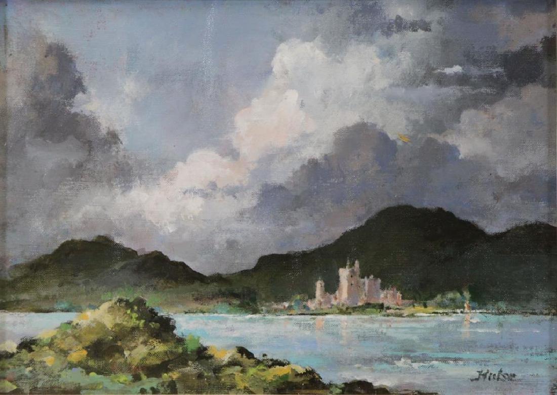 "HULSE, John. Oil on Board. ""Irish Castle"" 1958."