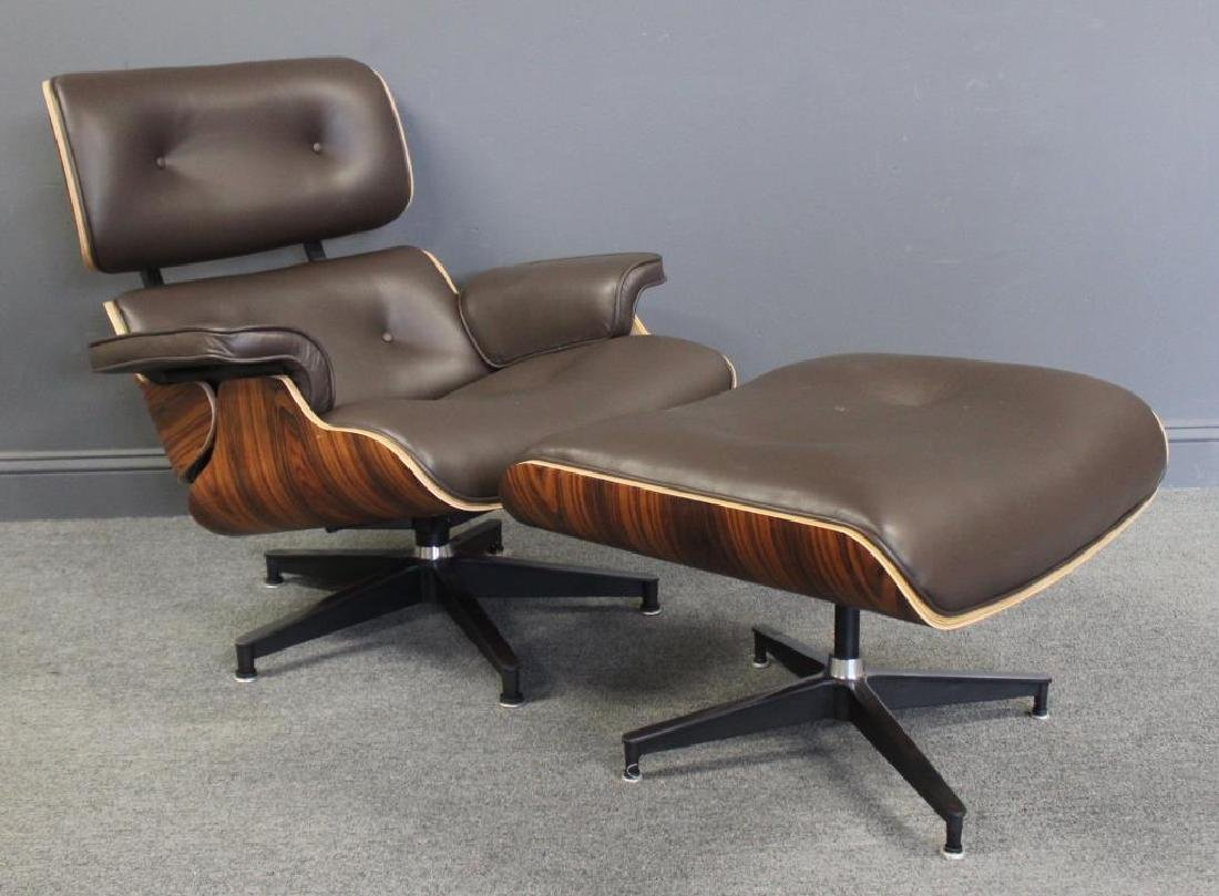 Quality Eames  Style Lounge Chair and