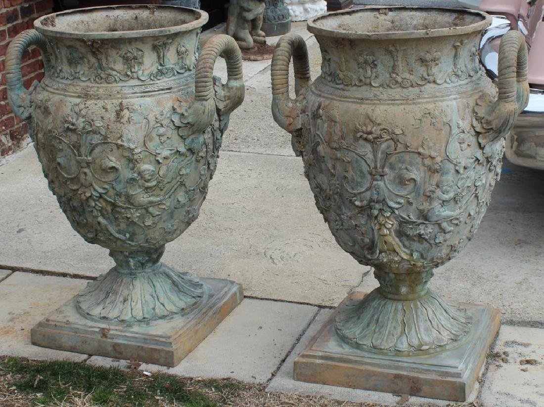 Pair of Large and Impressive Bronze Handled