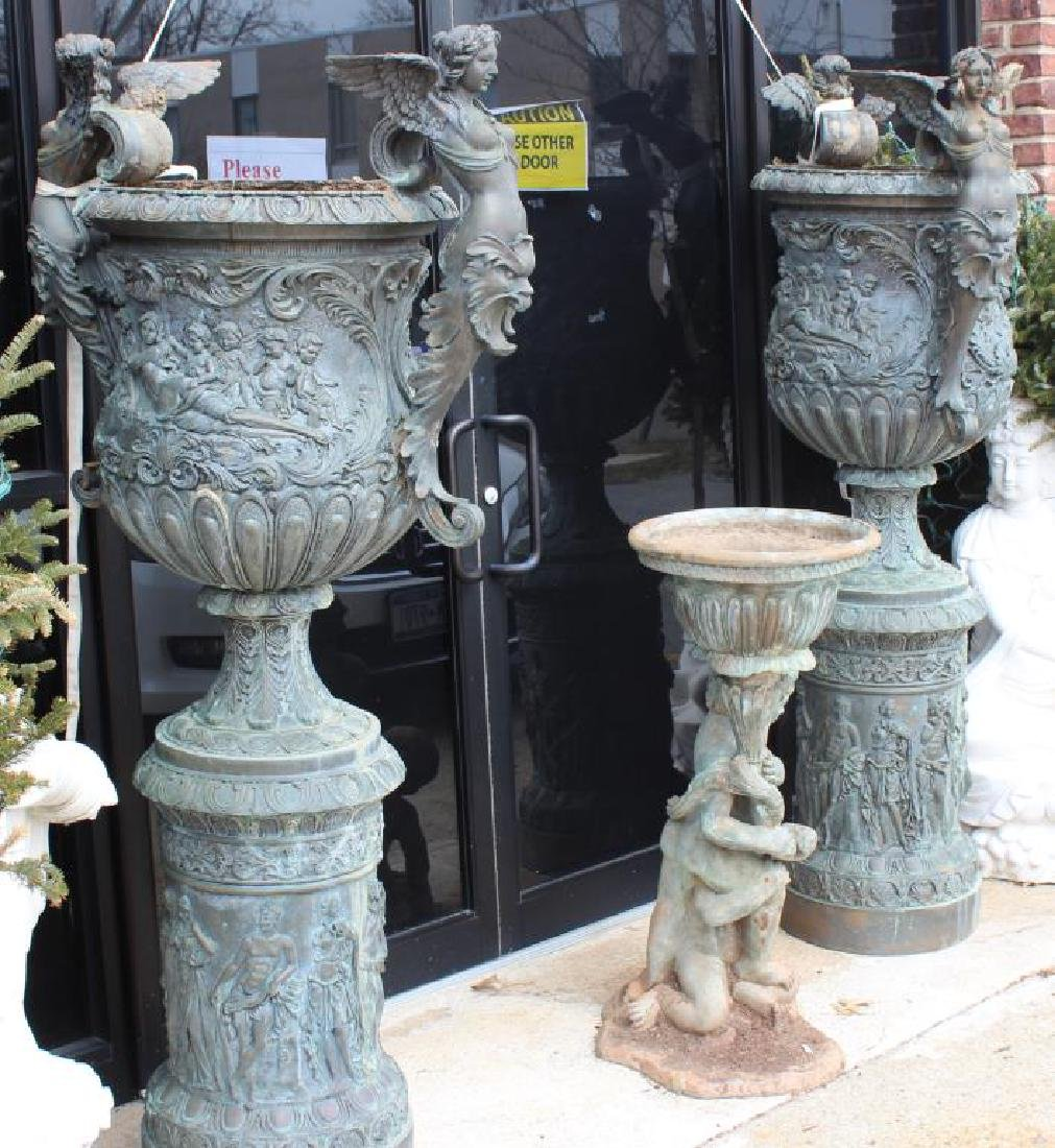 Pair of Large and Impressive Bronze Pedestals