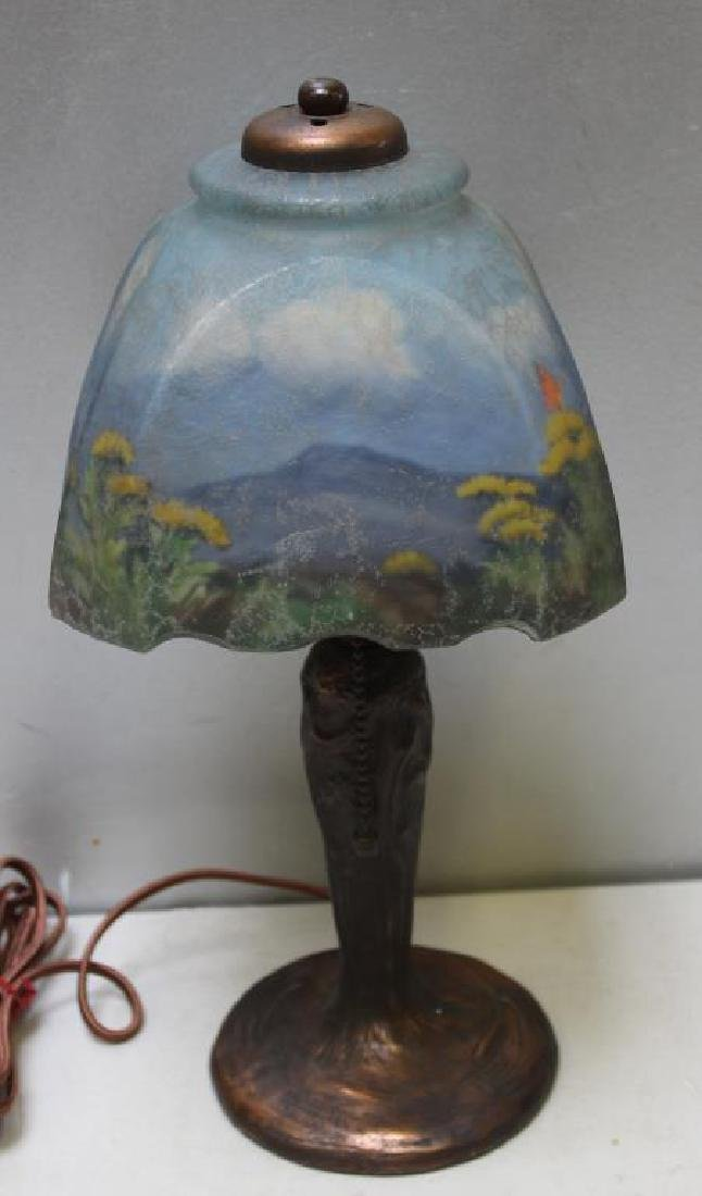 HANDEL, Signed Table Lamp with Signed Reverse