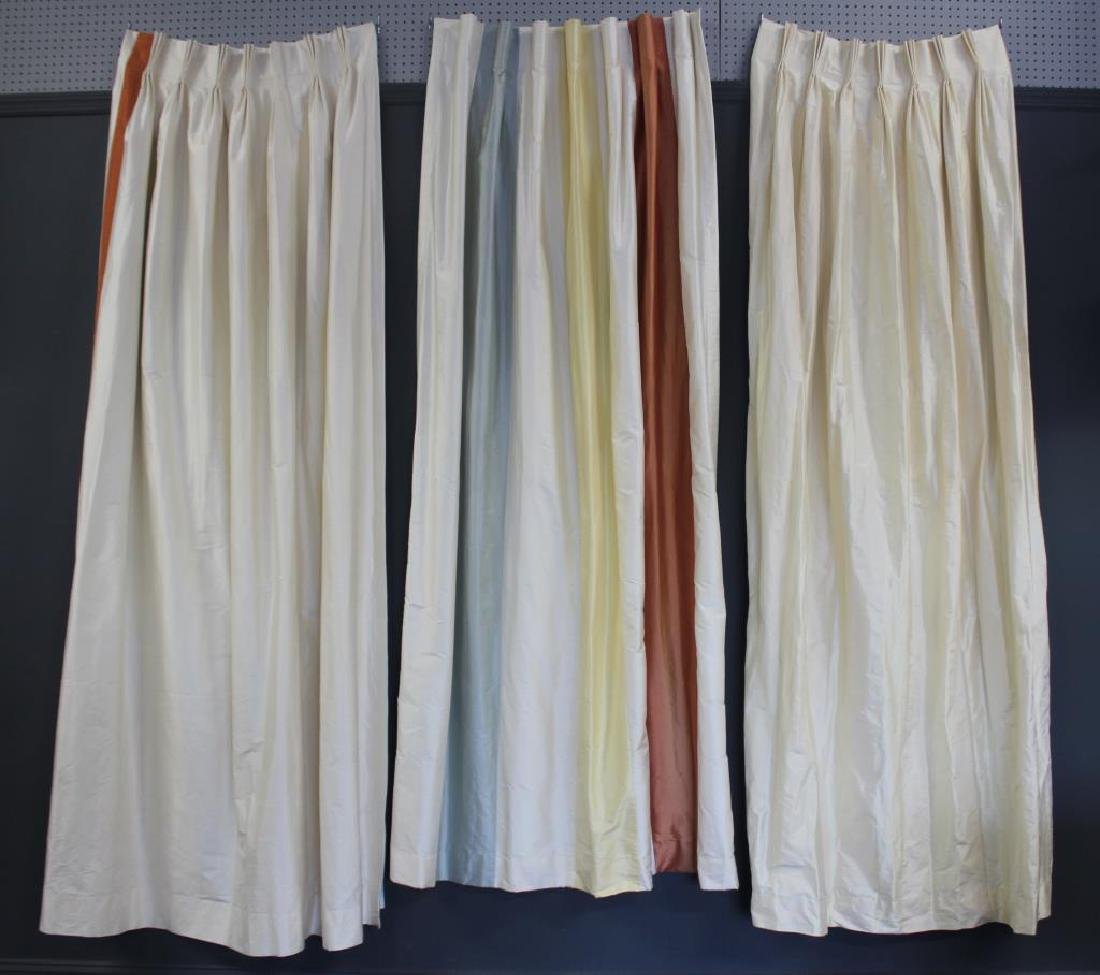 3 Sets of Beautiful Custom Made Silk Drapes.