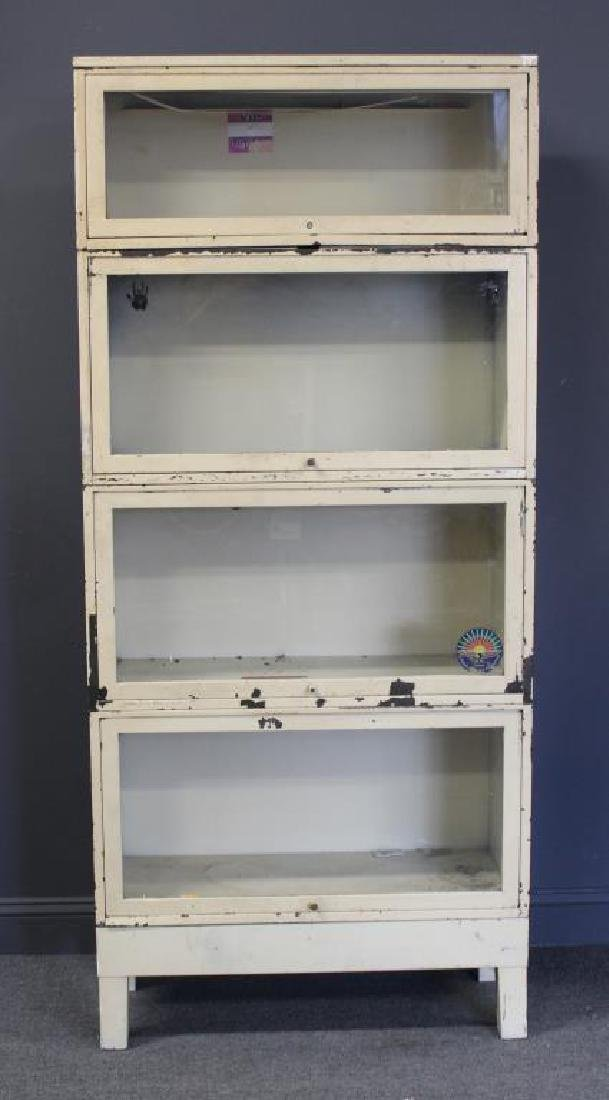 Enameled Industrial Metal Barristers Bookcase.