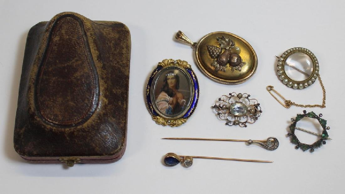 JEWELRY. Assorted Antique/Vintage Jewelry Group.