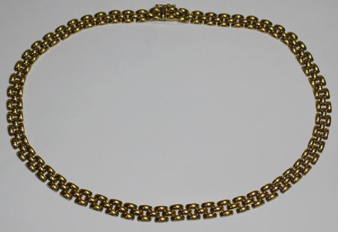 JEWELRY. Italian 18kt Gold Choker Length Necklace.