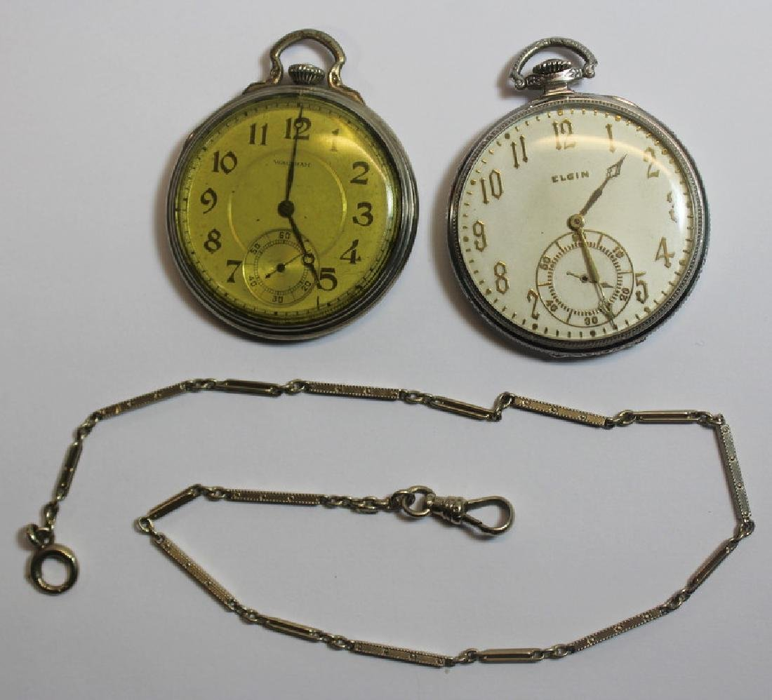 JEWELRY. Elgin and Waltham Pocket Watches.