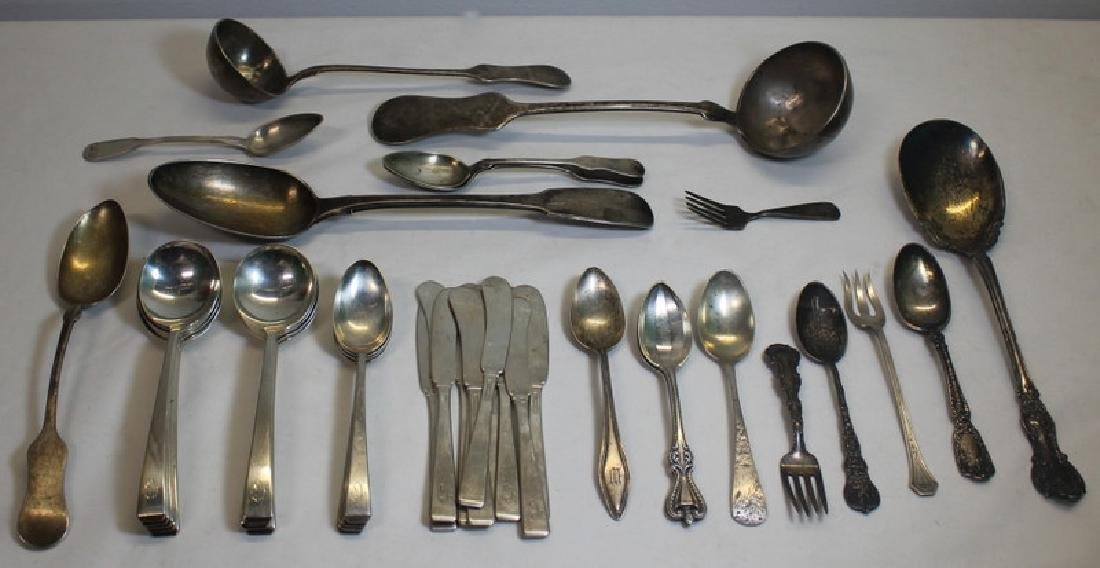 SILVER. Assorted Grouping of Silver Flatware and