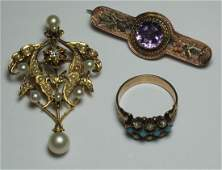 JEWELRY. Antique and Vintage Jewelry Grouping.