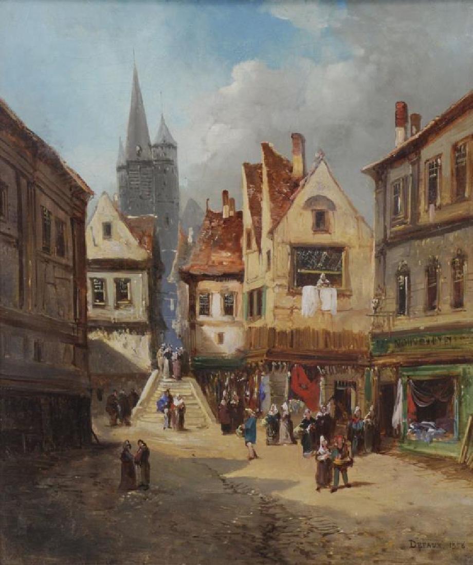 DEFAUX, Alexandre. Oil on Canvas. Village Square.