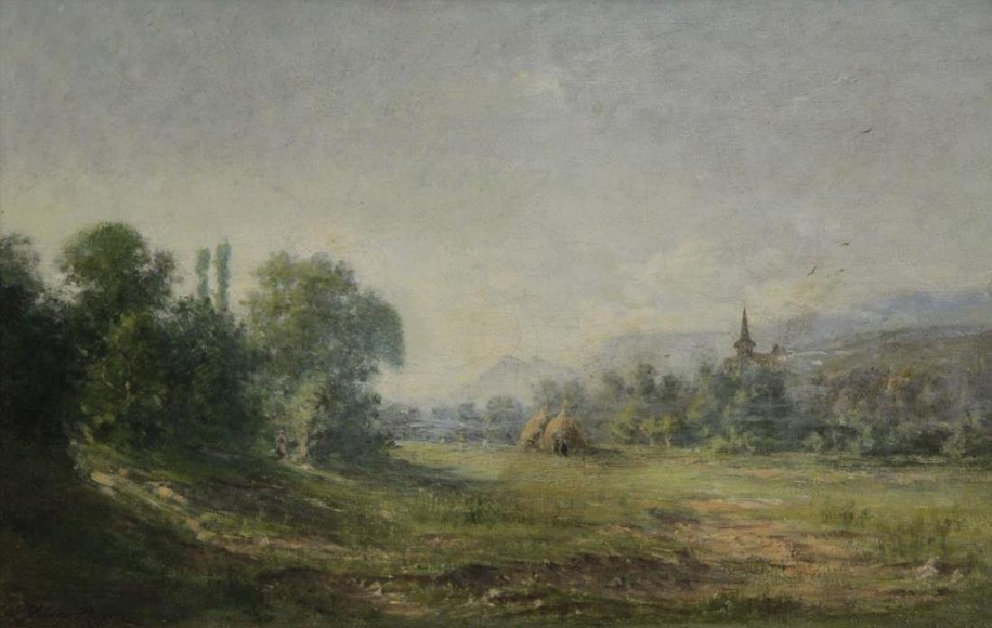 ROZIER, Jules. Oil on Canvas. French Landscape.