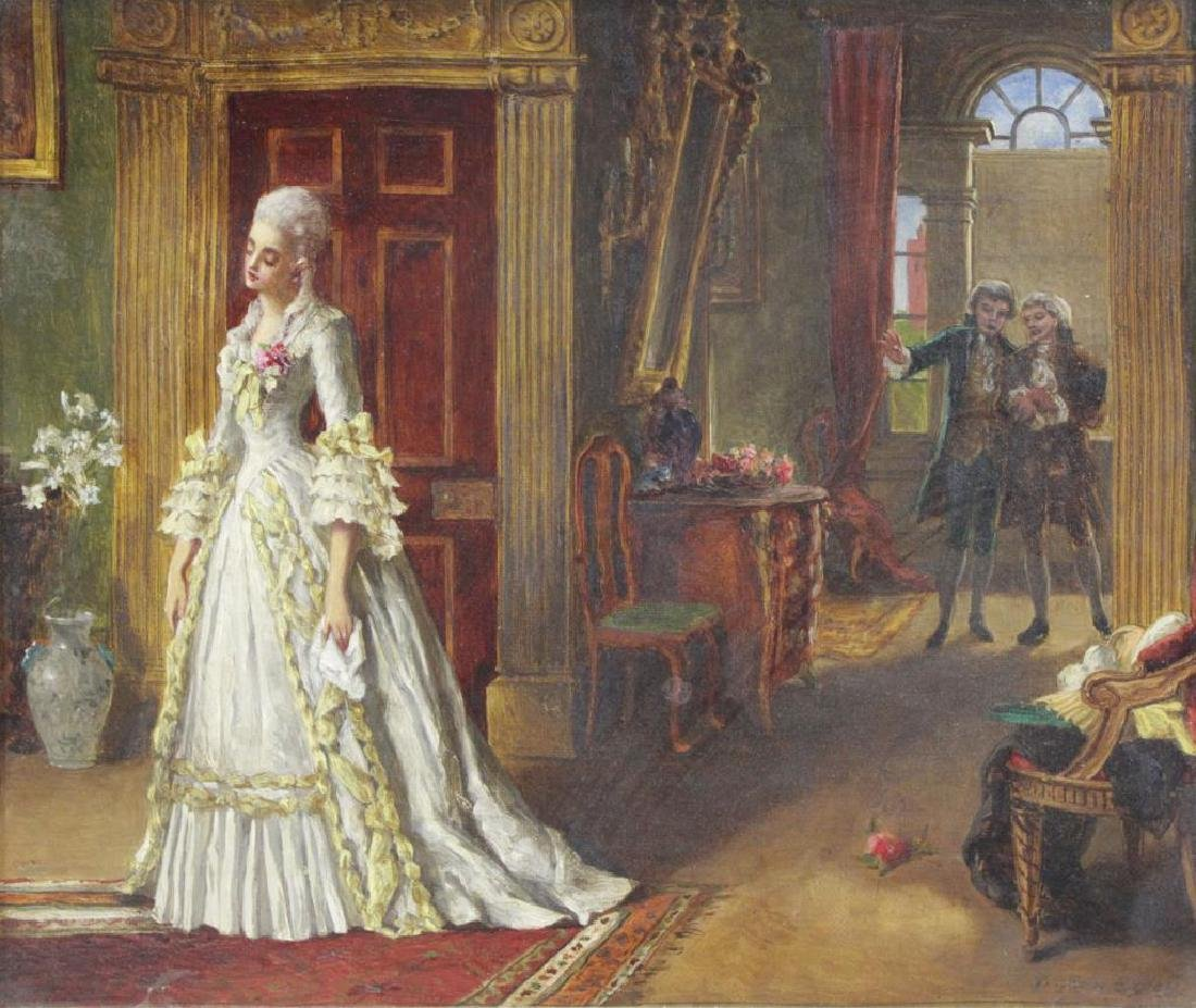 "EGLEY, William Maw. Oil on Canvas. ""Marriage de"