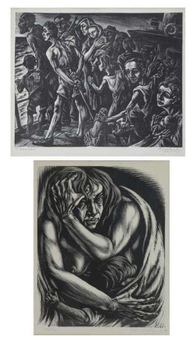 FRIEDLANDER, Isaac. Two Woodcut Prints.