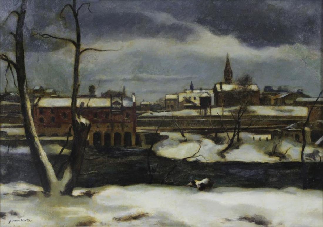 """MARTINO, Giovanni. Oil on Canvas. """"Winter in"""