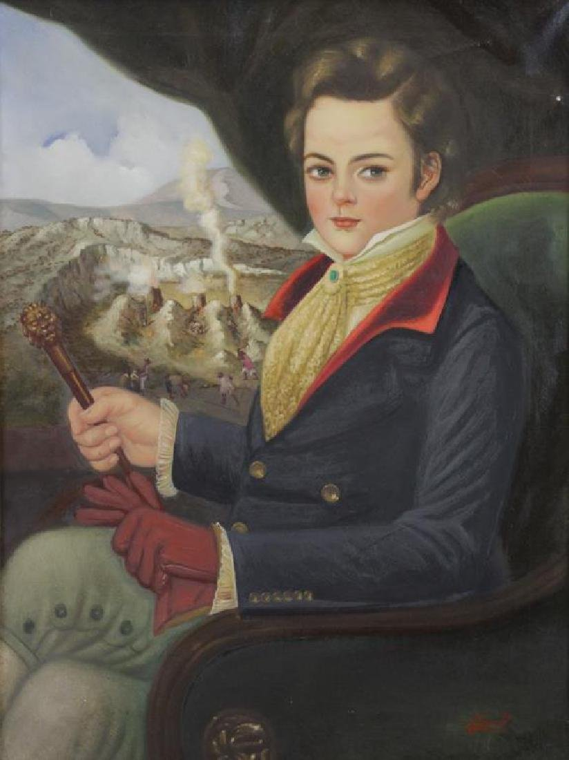 ROCHA, Horatio. Oil on Canvas. Portrait of a Young