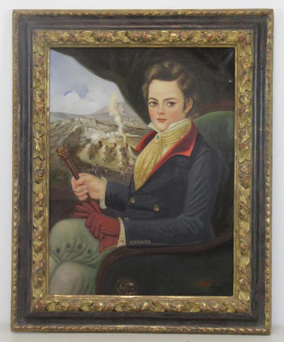 ROCHA, Horatio. Oil on Canvas. Portrait of a Young - 2