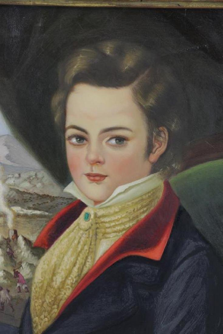 ROCHA, Horatio. Oil on Canvas. Portrait of a Young - 3