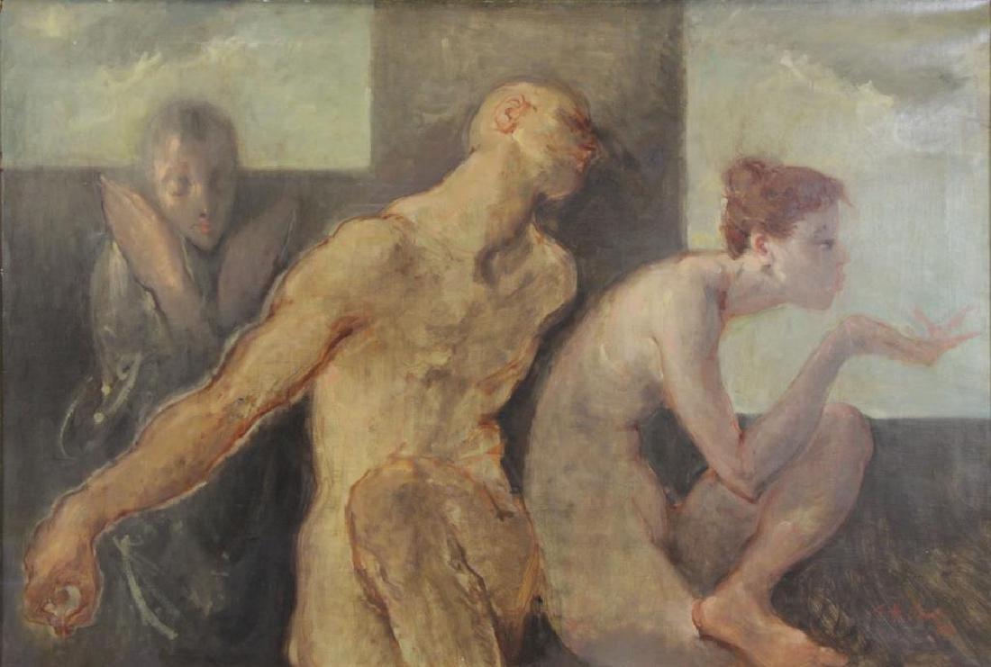 JONES, Garfield Hunter. Oil on Canvas. Three