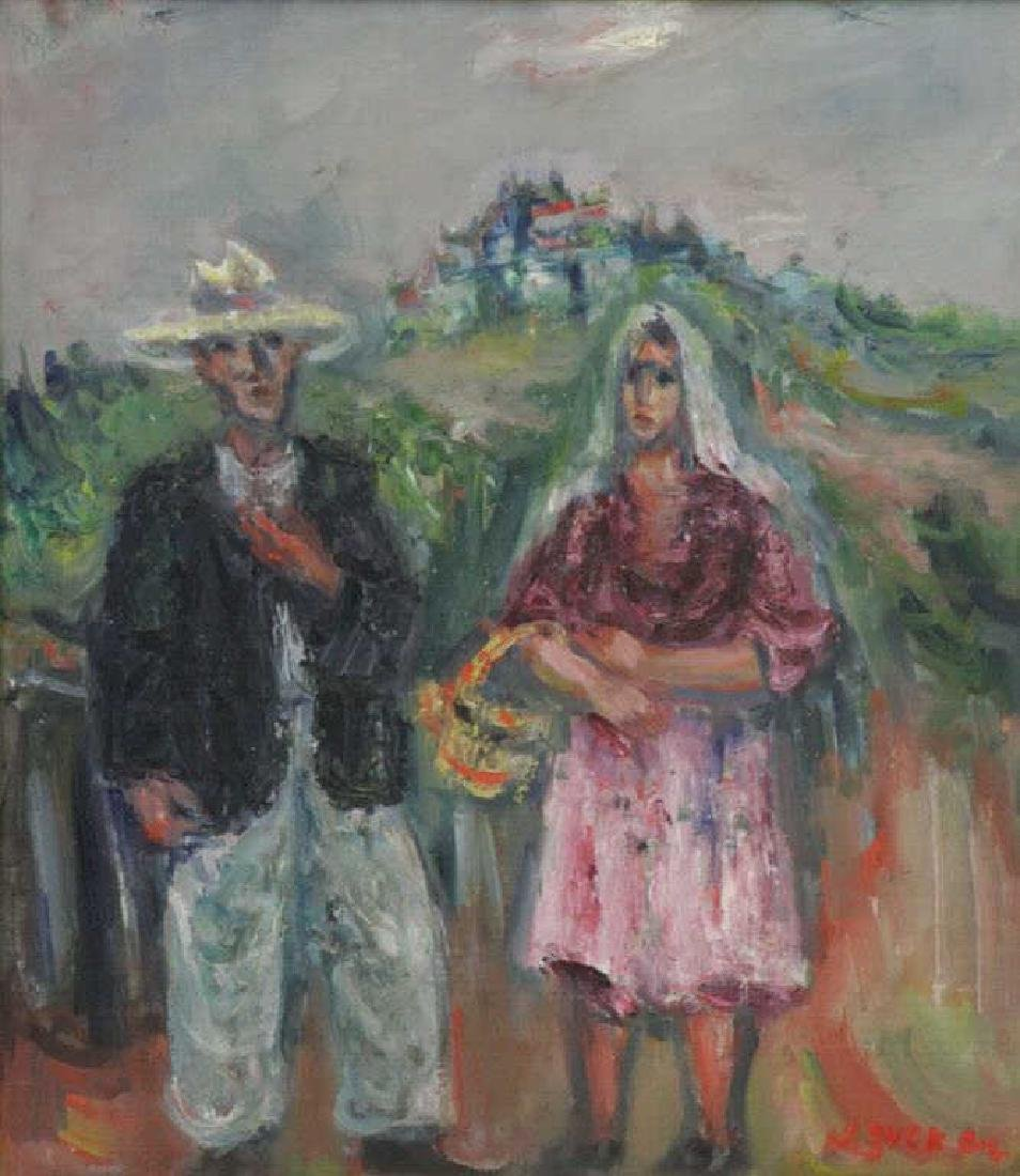 ZUCKER, Jacques. Oil on Canvas. Couple in