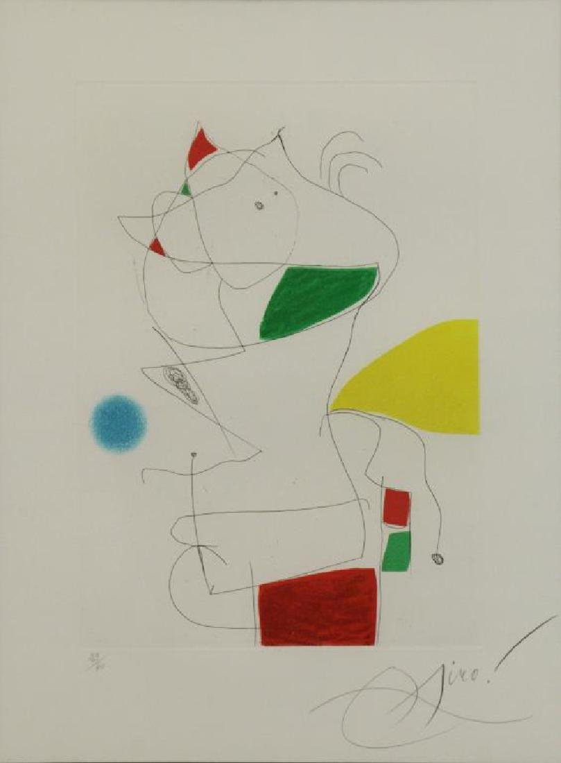 "MIRO, Joan. Etching & Aquatint ""Homage a San"