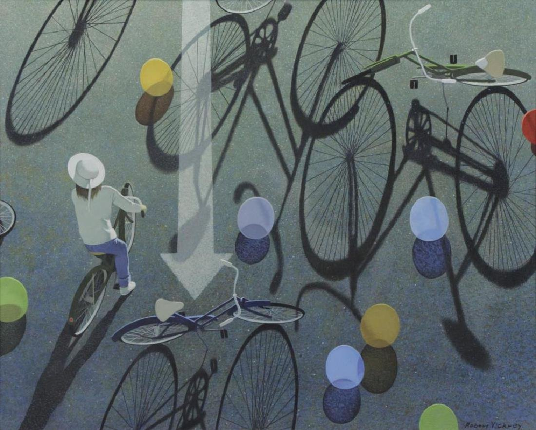 "VICKREY, Robert. ""Eight Balloons"" Egg Tempera on"