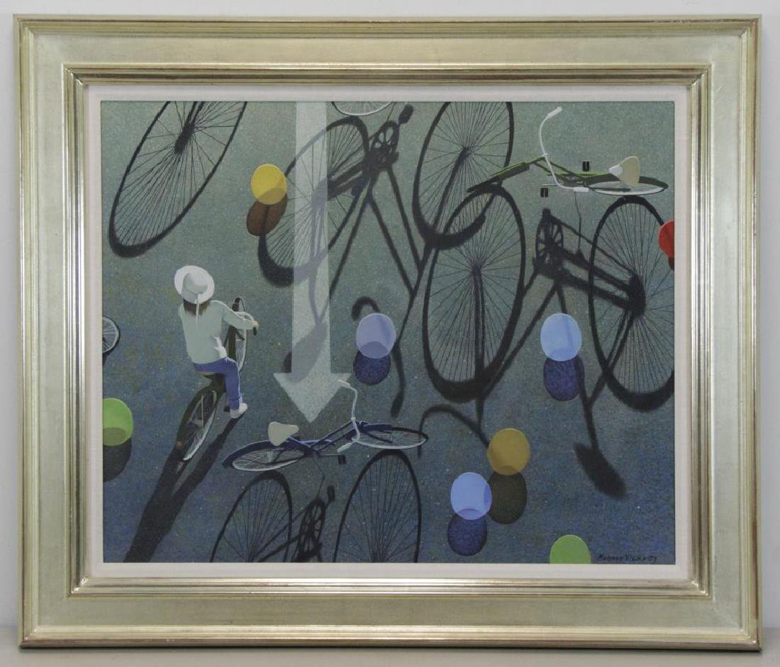 "VICKREY, Robert. ""Eight Balloons"" Egg Tempera on - 2"