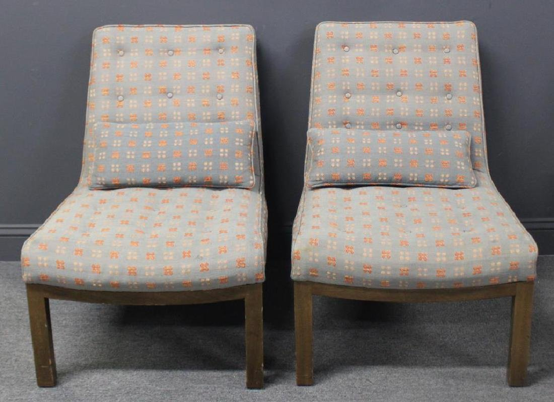 MIDCENTURY. Pair of Dunbar Signed Upholstered