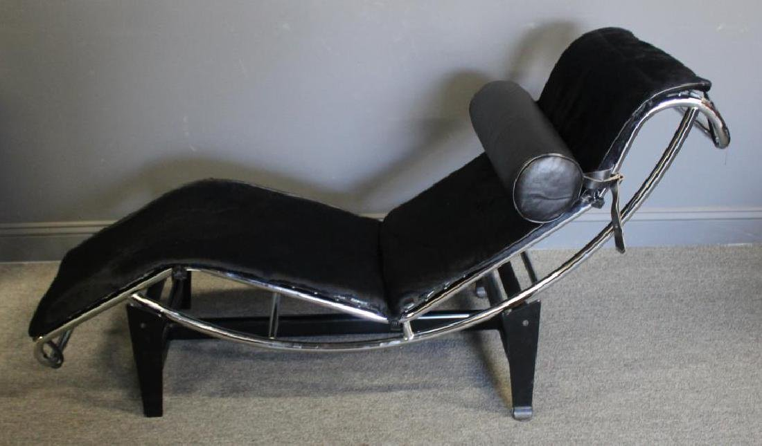 MIDCENTURY. Le Corbusier Style Chrome Chaise with