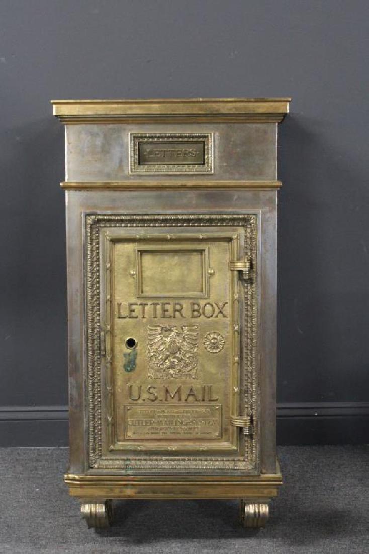 Gilt Bronze Art Deco Mail Box