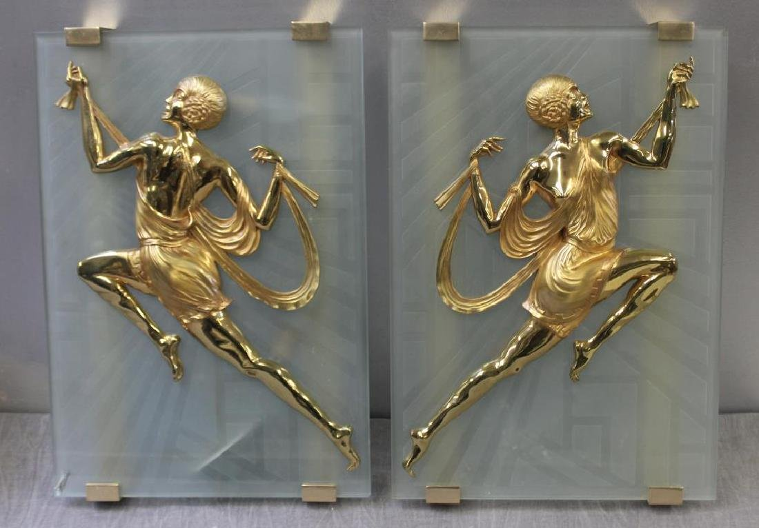 Magnificent Pair Of Art Deco Gilt Bronze and