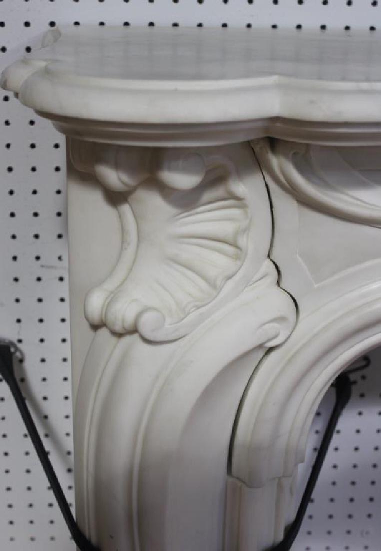 Impressive Antique Marble Fire Place Mantel - 2
