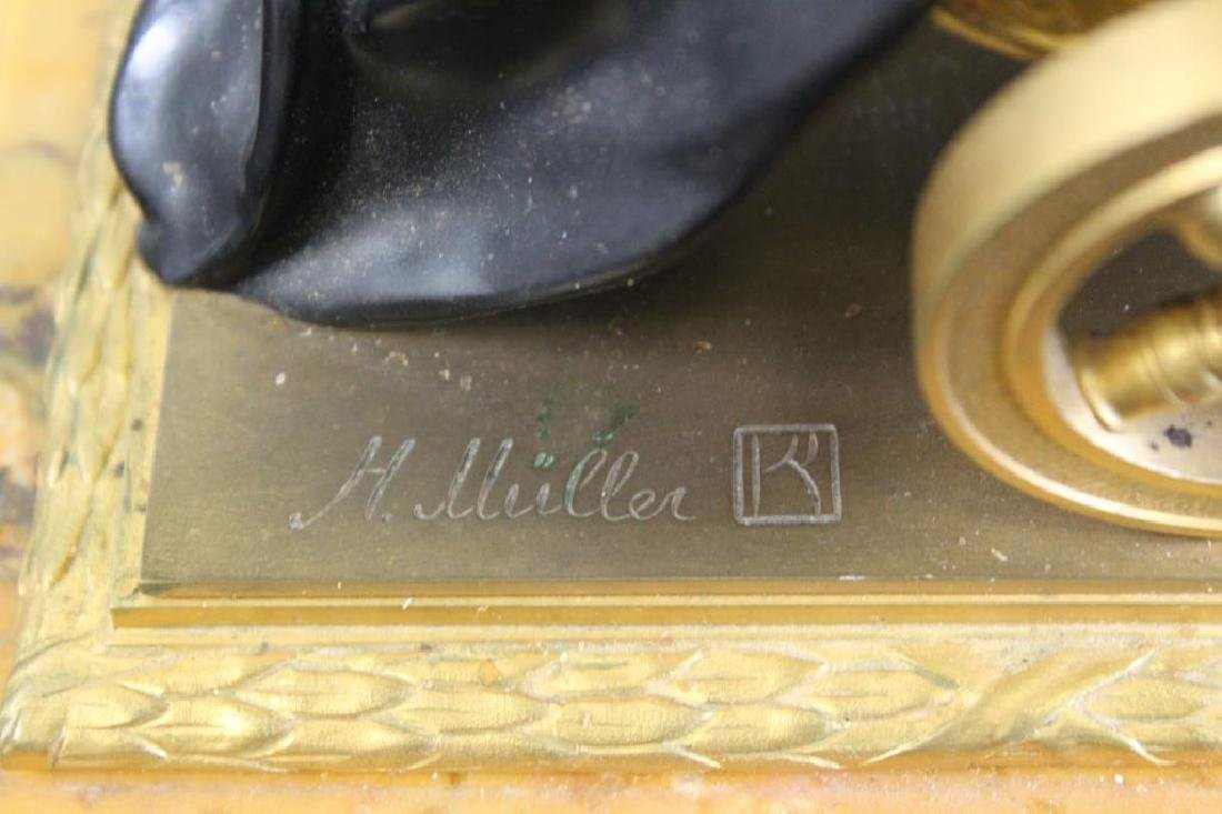 H. Uillerr, Signed Finest Quality Bronze & Marble - 10
