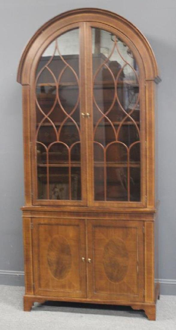BAKER, Signed  Dome Top China Cabinet.